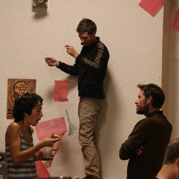 Coin spectacle avec notre comédienne Camille, Florian et Patrick.
